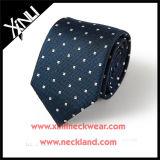 Never-out Polka DOT 100% homem de gravata de seda