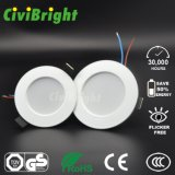 3W DEL Instration enfoncé par Downlight