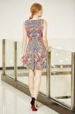 Vestido floral do baile de finalistas de MIDI da impressão da colocação