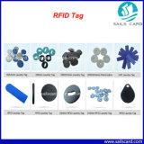 Etiqueta de la ropa de la frecuencia ultraelevada RFID con la muestra libre