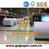 Alto papel revestido lateral doble blanco en el embalaje del carrete