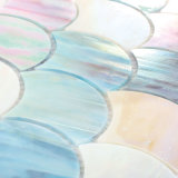 Dosseret de cuisine forme personnalisée tuile mosaïque de verre pour la vente de panneaux