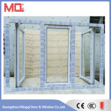 Раскройте наружу окно Casement PVC 3 панелей втройне