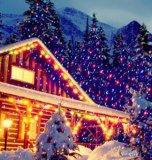 عيد ميلاد المسيح [لسر ليغت] شحن سريع خارجيّة أحمر أخيرة زرقاء حركة نجم مسلاط ليزر وابل ضوء مع محسّ ضوء