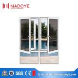 Алюминиевый застекленный двойник исправленным и окно Casement с шторками внутрь