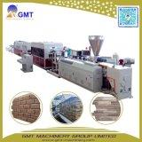Máquina decorativa de la protuberancia del panel de apartadero del ladrillo del PVC de la pared de piedra del modelo