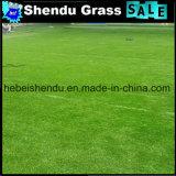 Relvado artificial da grama do fio da forma de 4 tons U para a paisagem