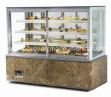 Refrigerador comercial de la torta de mármol de la visualización
