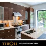 カラーMelaminの現実的な木製台所によってはすべての部屋家具Tivo-067VWが家へ帰る