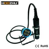 방수 100meters를 가진 Hoozhu Hu33 잠수 빛 4X 크리 말 Xm-L2 LED