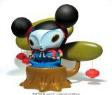 Funny Panda Toy portant des vêtements bleus avec des jambières (CB-PFT010) a