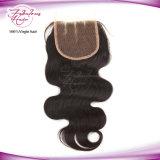ブラジルの毛ボディ波100%の人間の毛髪のレースの閉鎖