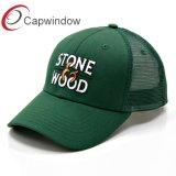 Capwindowの刺繍が付いている流行の石造りの木製のトラック運転手の網の帽子