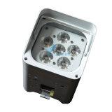 Transmetteur DMX sans fil 6PCS LED PAR RGBWA + UV avec batterie