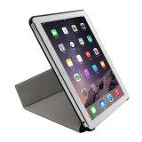 Lederner intelligenter Tablette-Kasten mit der Stellung für iPad