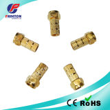 Rg59 RG6 Crimp F Connector para cabo CATV