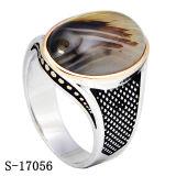 Arrivi degli anelli di pietra naturali d'argento degli uomini del commercio all'ingrosso 925 della fabbrica nuovi