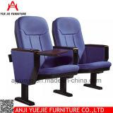 Auditorio de tejido sillas con panel de escritura Yj1616r