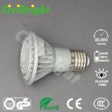 세륨 RoHS 대중적인 LED 동위 빛 PAR20 7W는 백색 LED 빛을 데운다