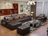 A mobília do sofá da sala de visitas com o sofá do couro genuíno ajustou 1+2+3