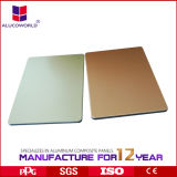 El panel compuesto de aluminio con diversos colores
