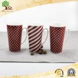 Ultima figura di ceramica 450ml della tazza di tè della tazza di caffè della neve e dell'onda di modo 2017 T