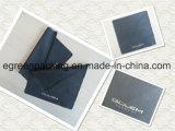 Schwarzes Microfiber Eyewear Putztuch-heißes Stempel-Silber-Firmenzeichen