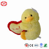Assis Cute Yellow Lovely Plush Sitting Fluffy Soft Duck Toy