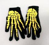 Halloween-Knochen gedruckte Polyester-Handschuhe (GL001)