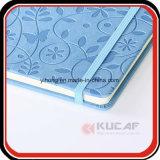 Förderndes Geschenk Debossed Blume Moleskine Notizbuch mit elastischem Schliessen