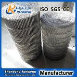 製造業者のステンレス鋼の平らな屈曲のコンベヤーの網ベルト