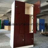Preiswerter Personal, der 6 Tür-einzelne Tür-buntes Schließfach kleidet