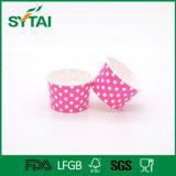 Copos de papel de gelado da fábrica de China com tampa plástica