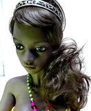 muñeca negra del silicón de la muchacha del 132cm África con la muñeca grande de los Boobs para los hombres