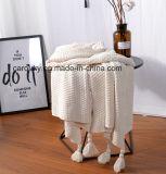 Хлопок уютное Blanket&#160 одеяла кровати хлопка мягкий; Сплетенный ход хлопка