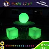 Siège de cube à LED RVB à télécommande colorée