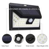 44 lampe de mur extérieure actionnée solaire solaire de voie de nuit de garantie de lumière de jardin du détecteur de mouvement de la lumière PIR de DEL DEL