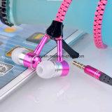 Trasduttore auricolare incorporato stereo del microfono della chiusura lampo variopinta portatile del metallo