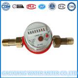 Um medidor quente do volume de água do jato com seletor seco