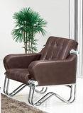 Sofá moderno popular del cuero de la oficina de la silla del hotel con el marco inoxidable en las existencias 1+1+3