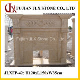 Egipto Bege Marble Classic Style Stone Fireplace