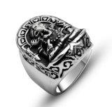 Deus de Ganesha da prata masculina do vintage do anel do aço inoxidável da riqueza
