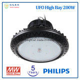 5 años de la garantía bahía 200W del UFO LED de alta con Ce&RoHS aprobado