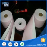 2 telas de rollo de papel autocopiativo rebobinadora cortadora longitudinal