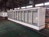 2000L冷凍食品のための大きいVolumのガラスドアの飾り戸棚