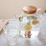 찬 음료 유리제 물 투수 남비를 위한 명확한 유리제 물 주전자가 유리제 찬 양조주 커피 메이커 OEM ODM 찬 차 주스 젖빛 유리에 의하여 거슬린다