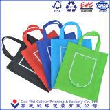 Presentes promocionais Reutilizáveis Eco Friendly Têxtil não tecido Dobrável Carry Shopping Tote Bag