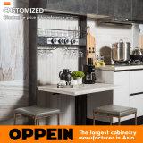 Linea retta armadio da cucina della mobilia della cucina (PLCC17017) della lacca laminata e UV di Oppein