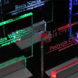 レーザーの彫版LEDのカスタムロゴのガラス端のLitの印