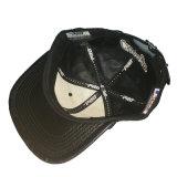 Plano de cuero personalizada Bill Hat algodón negro bordado Imprimir Tapa Snapback